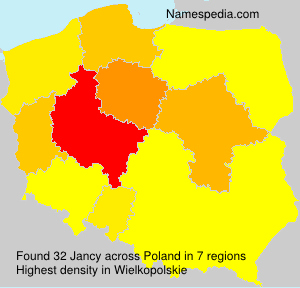 Surname Jancy in Poland