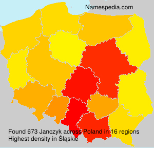Surname Janczyk in Poland