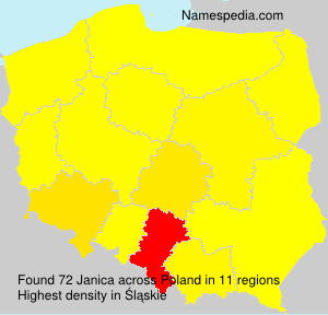 Surname Janica in Poland