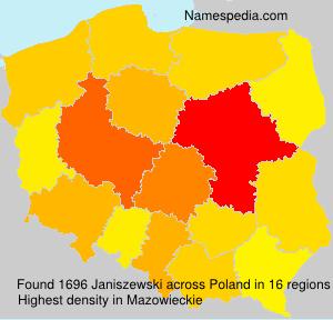 Surname Janiszewski in Poland