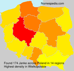Surname Janke in Poland