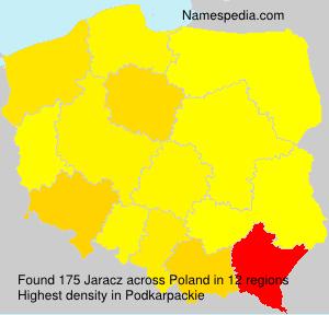 Surname Jaracz in Poland