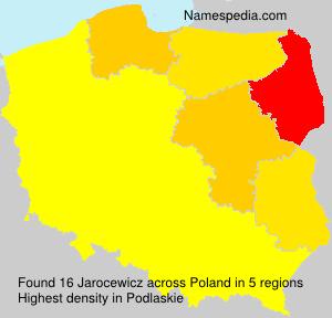 Familiennamen Jarocewicz - Poland
