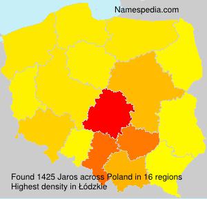 Surname Jaros in Poland