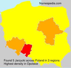 Surname Jarzycki in Poland