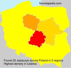 Familiennamen Jasiaczyk - Poland