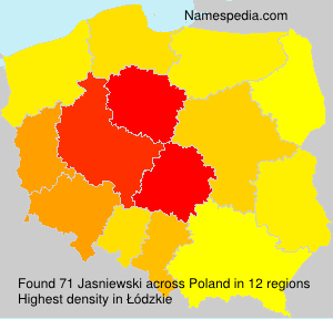Surname Jasniewski in Poland