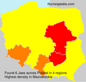 Surname Jass in Poland