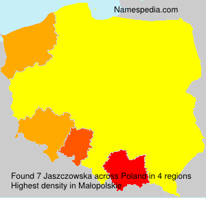 Surname Jaszczowska in Poland