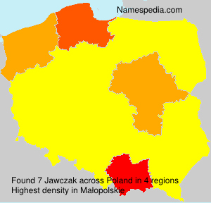 Surname Jawczak in Poland