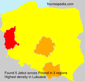 Surname Jebut in Poland