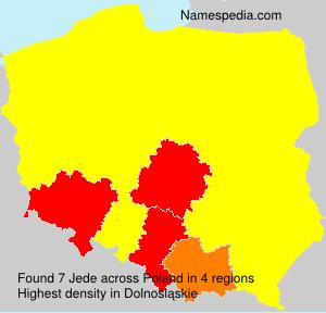 Surname Jede in Poland
