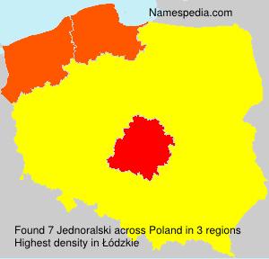 Surname Jednoralski in Poland