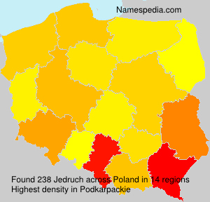 Surname Jedruch in Poland