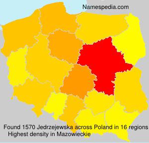 Surname Jedrzejewska in Poland