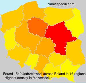Surname Jedrzejewski in Poland