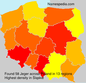Surname Jeger in Poland
