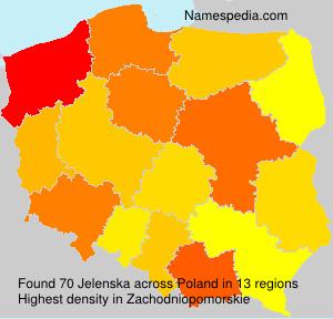Surname Jelenska in Poland