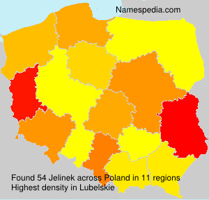 Surname Jelinek in Poland