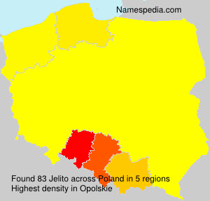 Surname Jelito in Poland