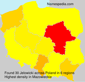 Surname Jelowicki in Poland