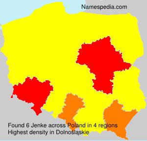 Surname Jenke in Poland