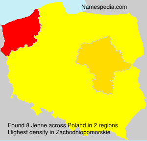 Surname Jenne in Poland