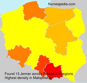 Familiennamen Jenner - Poland