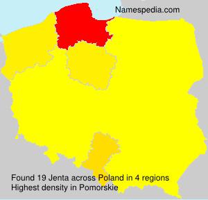 Surname Jenta in Poland