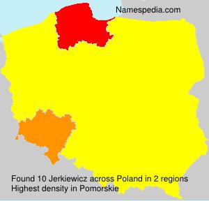 Surname Jerkiewicz in Poland