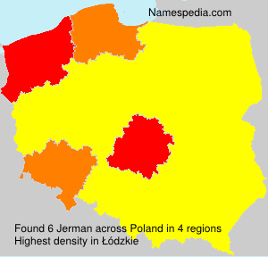 Surname Jerman in Poland