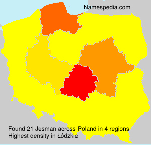Surname Jesman in Poland
