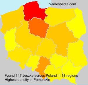 Surname Jeszke in Poland