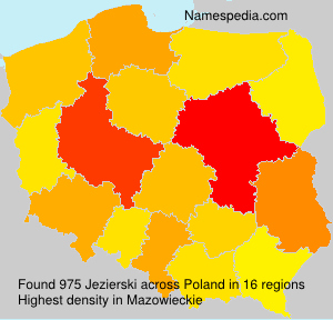 Surname Jezierski in Poland