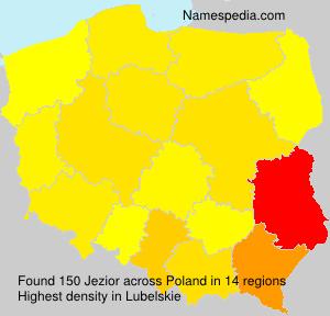 Familiennamen Jezior - Poland