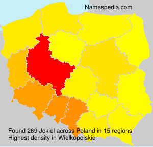 Surname Jokiel in Poland