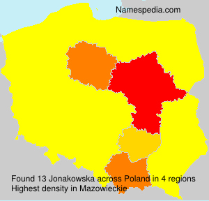 Surname Jonakowska in Poland