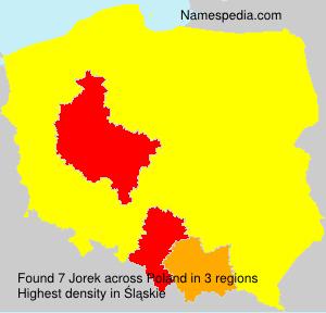 Surname Jorek in Poland