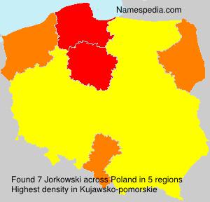 Surname Jorkowski in Poland