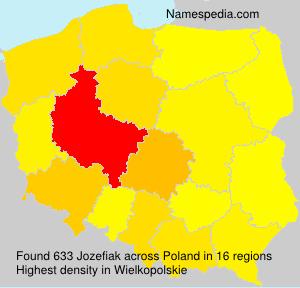 Surname Jozefiak in Poland
