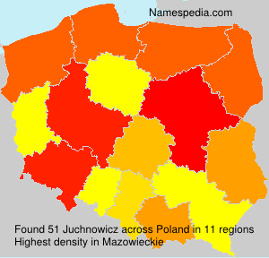Surname Juchnowicz in Poland