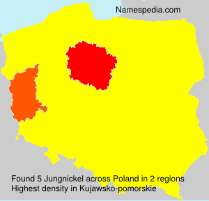 Surname Jungnickel in Poland