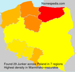 Surname Junker in Poland