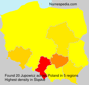 Surname Jupowicz in Poland
