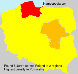 Surname Juren in Poland