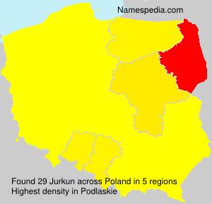 Surname Jurkun in Poland