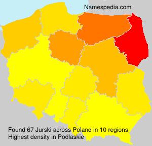 Surname Jurski in Poland