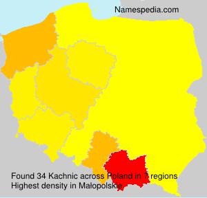 Surname Kachnic in Poland