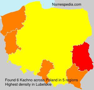 Surname Kachno in Poland
