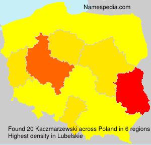 Familiennamen Kaczmarzewski - Poland